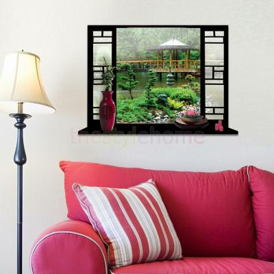 3D Window View Garden Wall Stickers Art Vinyl Decal Mural Wallpaper Home | eBay