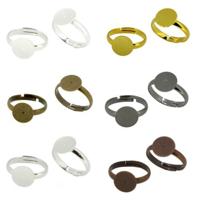 Brass Ring Shanks Pad Base Jewelry Findings Adjustable Ring Pack of 50 | eBay