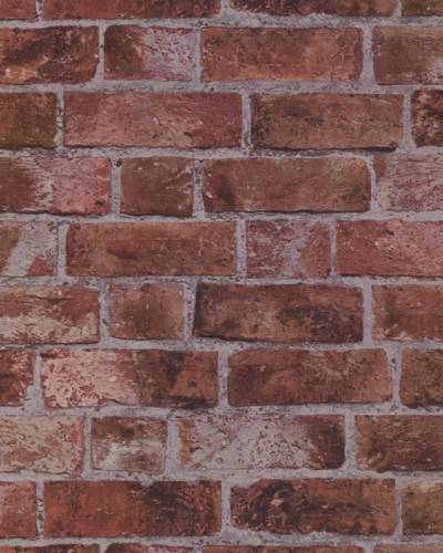 BRICK WALLPAPER Aged Red Brick with Texture HE1044 | eBay