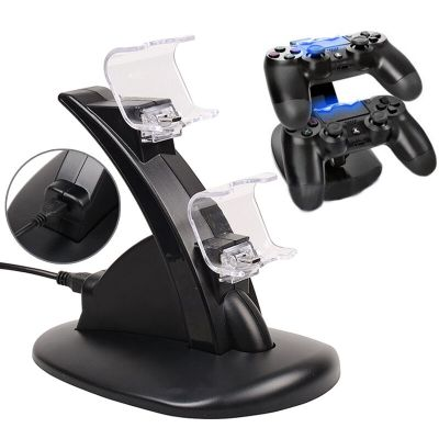 PlayStation 4 PS4 Dual Controller LED Charger Dock Station USB Charging Stand | eBay