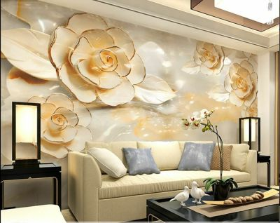 3D Wallpaper Bedroom Mural Roll Modern Luxury flower Background wall BJ59 | eBay