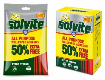 Solvite All Purpose Extra Strong Wallpaper Adhesive Quick Easy Mixing Glue Paste | eBay