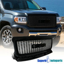Grilles for 2016 GMC Canyon   eBay 15 18 GMC Canyon Front Bumper Hood Grille Replacement Black Coated Grill  Pickup