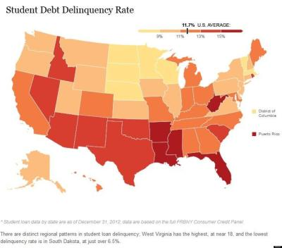 13 States Where Student Loan Debt Is Crushing College Grads | HuffPost