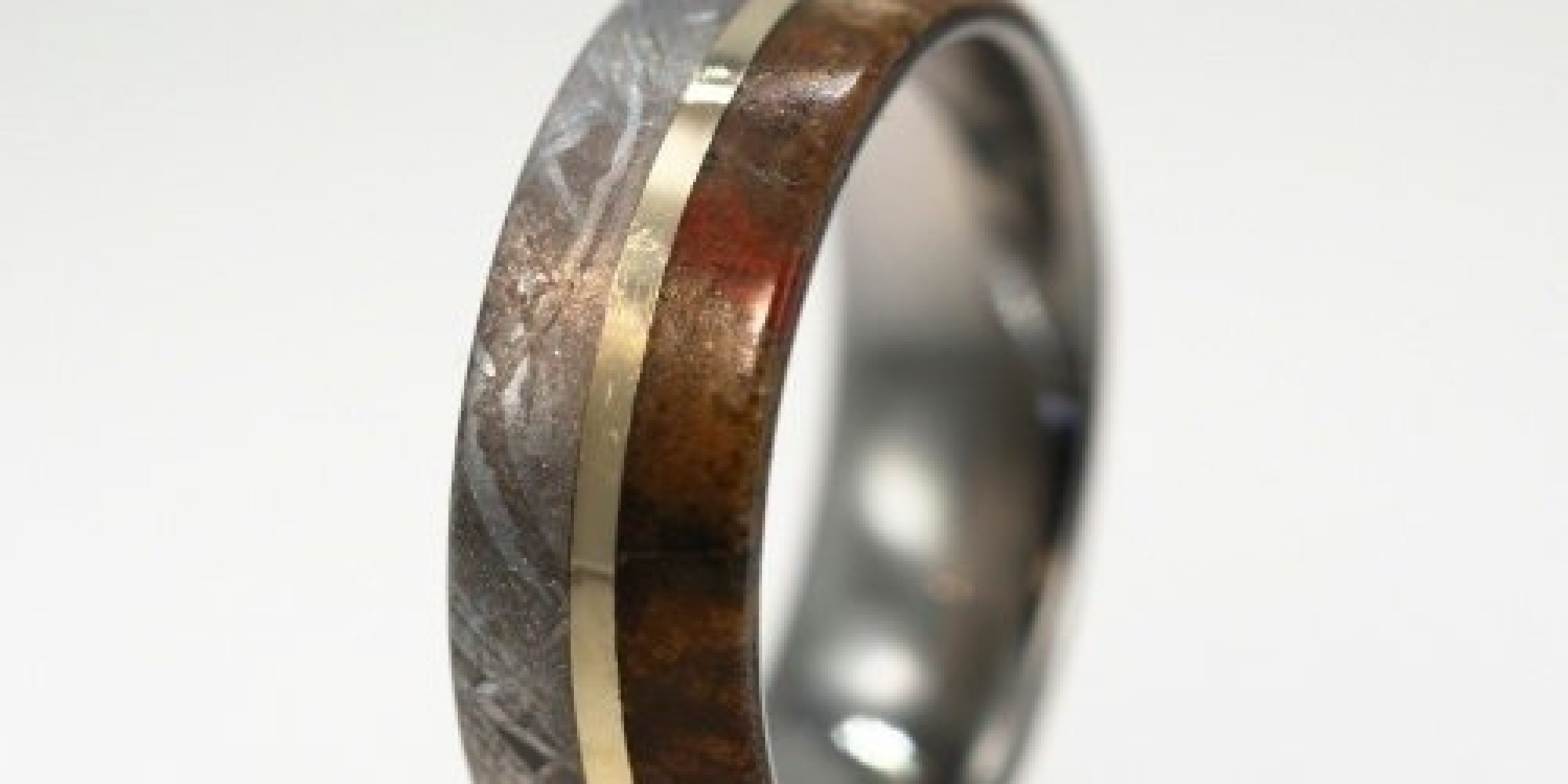 unique wedding ring n dinosaur bone wedding ring This Beautiful Wedding Band Is Actually Made Of Dinosaur Bone HuffPost