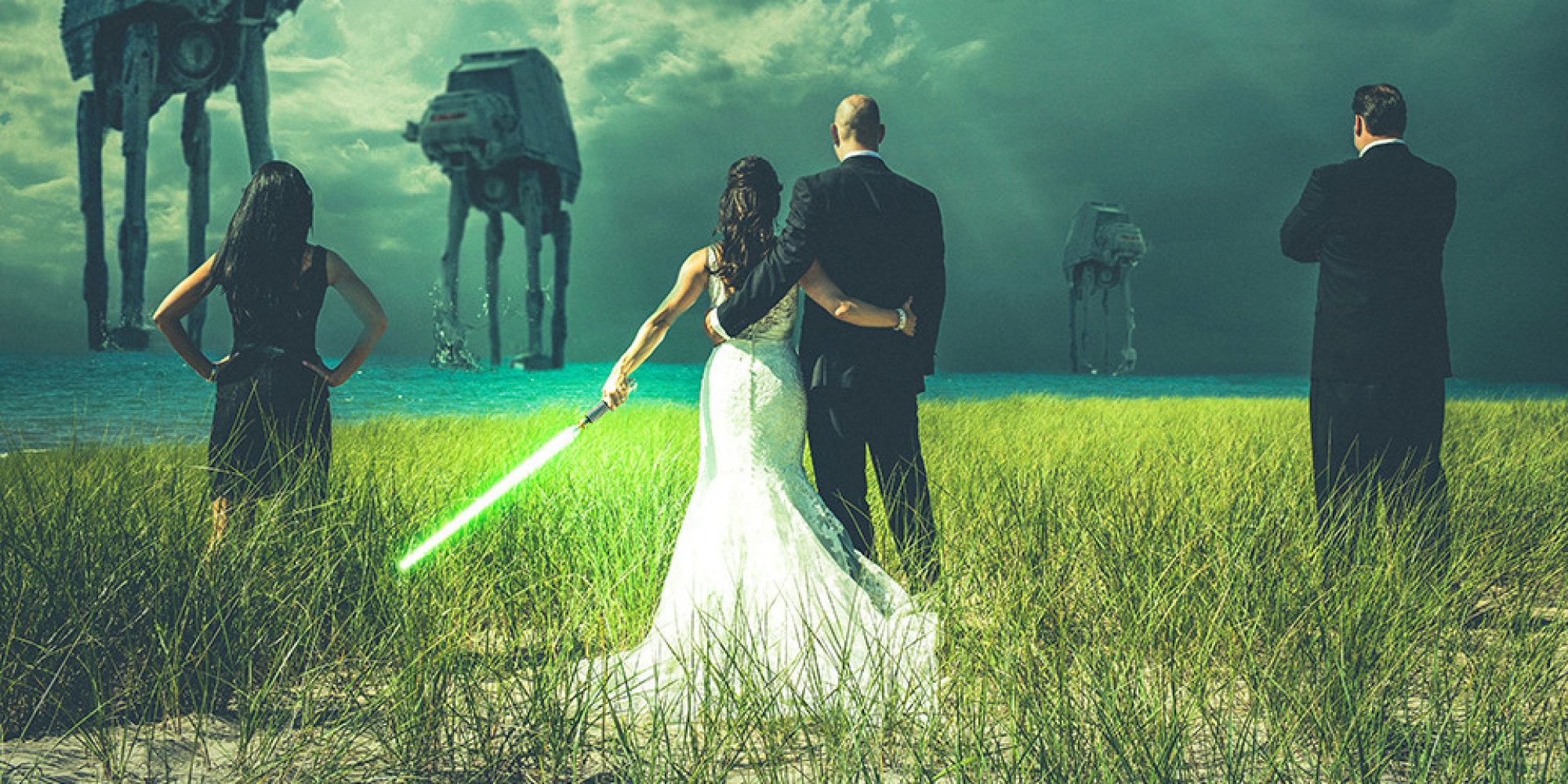 star wars wedding n star wars wedding bands Everything You Need For A Star Wars Wedding Minus The Evil Sith Lord HuffPost