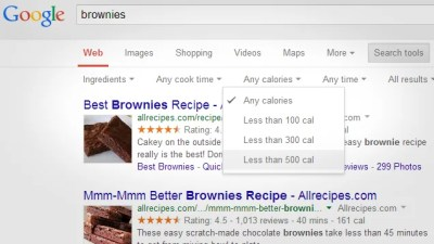 Filter Recipe Results by Ingredients and More with Google Search Tools
