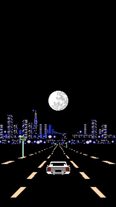 White Ferrari-inspired pixel art iPhone wallpaper : FrankOcean