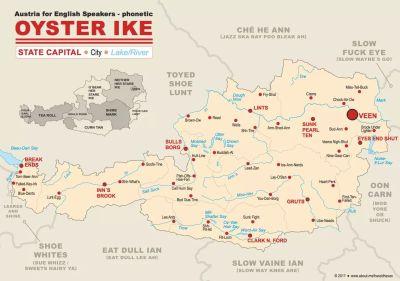 OYSTER IKE - Österreich Landkarte NEU! : Austria