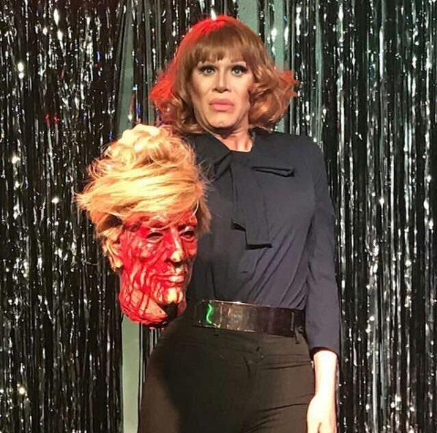 Sharon Needles as Kathy Griffin   rupaulsdragrace Sharon Needles as Kathy Griffin