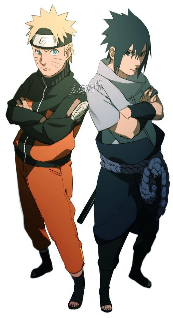 Naruto and Sasuke Looking Like They re About to Drop the Most     ArtNaruto