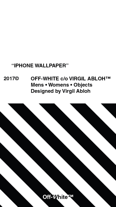 [Art] Made an Off-White wallpaper for iPhones : streetwear