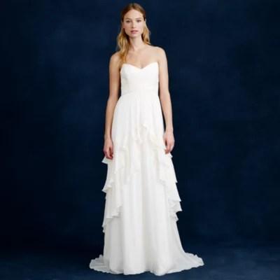B j crew wedding dress Luella mermaid gown
