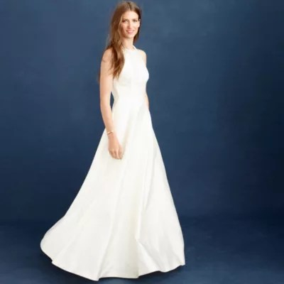 C j crew wedding dress Estella gown Estella gown