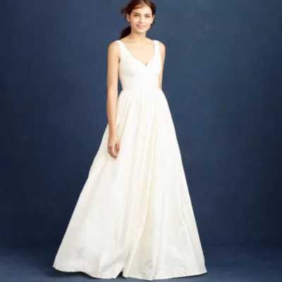 E j crew wedding dress Karlie gown