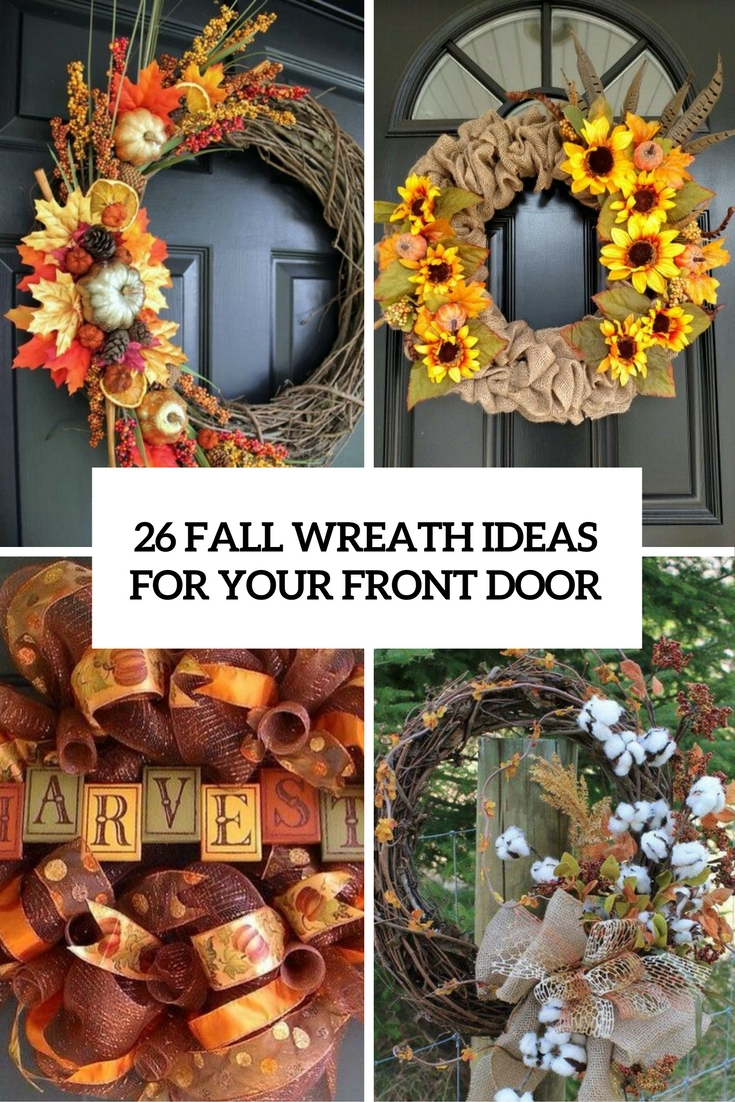 26 Fall Wreath Ideas For Your Front Door D    cor   Shelterness fall wreath ideas for your front door cover