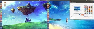 Wallpaper stretching over multiple monitors on Fedora 19 (Gnome 3) - Unix & Linux Stack Exchange