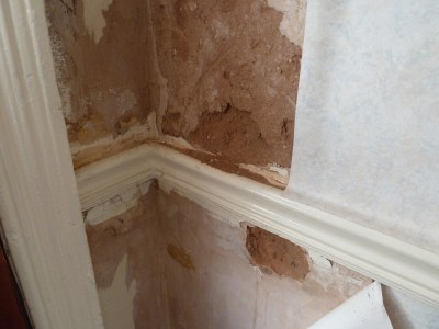 How can I repair severly water-damaged interior wall plaster or sheetrock? - Home Improvement ...