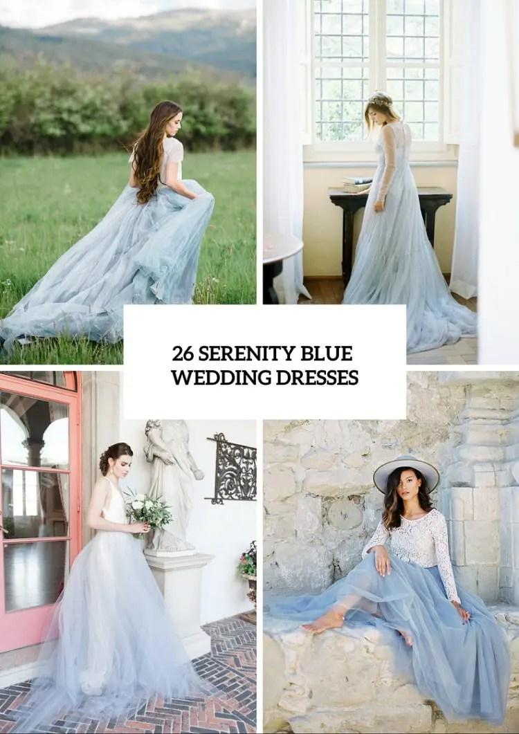 serenity wedding dresses wedding dress blue 26 Serenity Blue Wedding Dresses That Inspire
