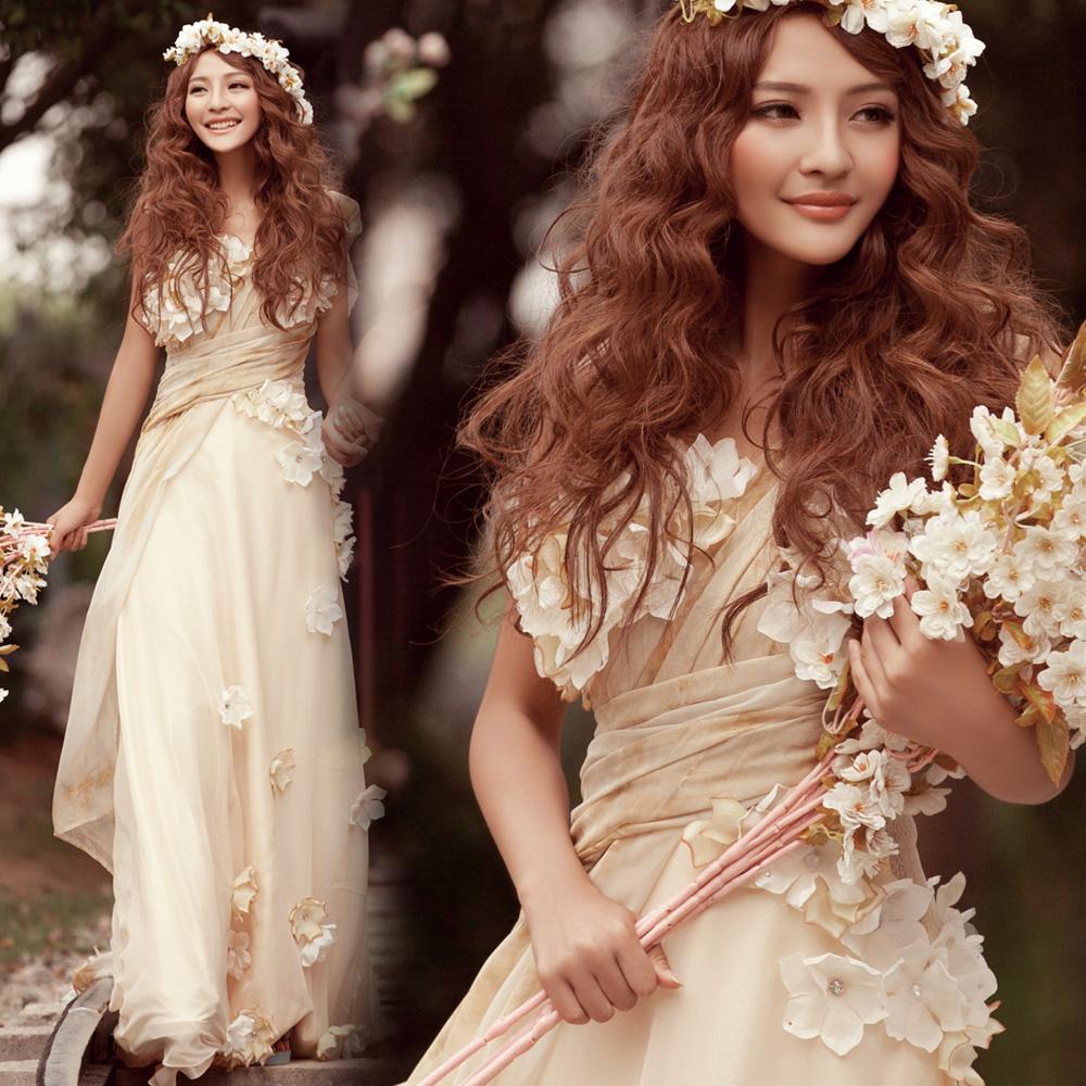 champagne colored chiffon wedding dresses champagne colored wedding dresses Champagne Color Wedding Dresses Gorgeous Bateau Neck Short Sleeve