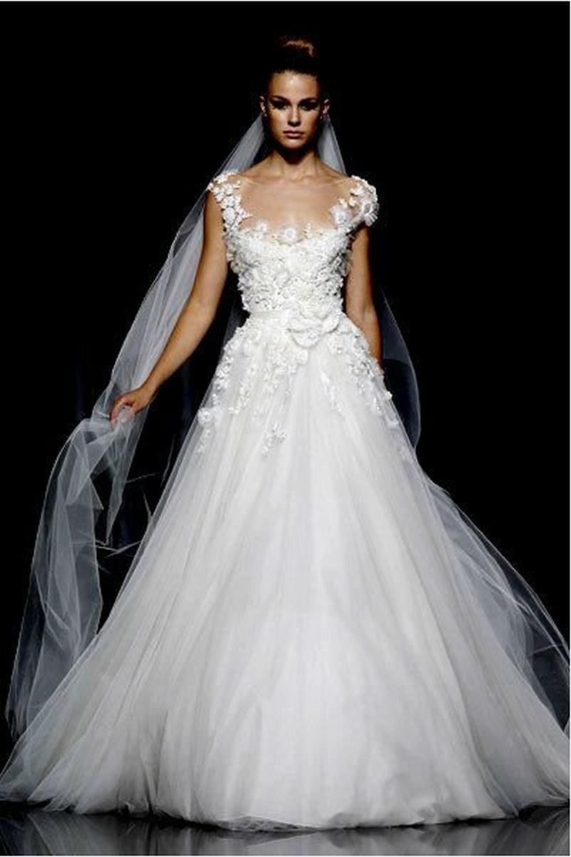 irish lace wedding gown sheer lace wedding dress Irish Lace Wedding Dresses