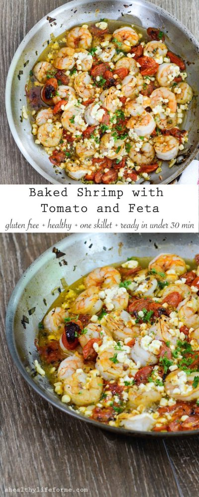 Baked Shrimp with Tomato and Feta - A Healthy Life For Me