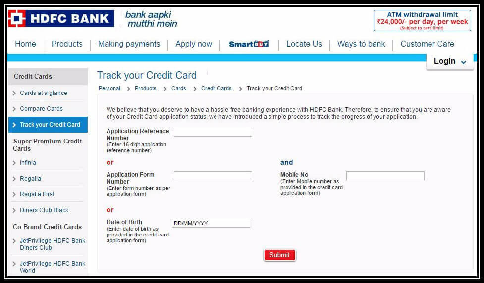 HDFC Credit Card Status: How to Track HDFC Card Application Status Online