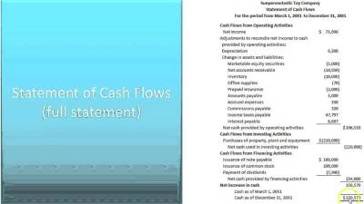 Part B: Prepare Financial Statements, Equity, Balance Sheet, Cash Flows - Slides 27-30 - YouTube