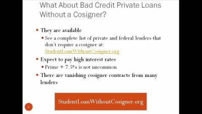 Bad Credit Student Loan Without Cosigner - YouTube