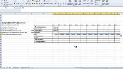 Spreadsheet Simple Cash Flow Statement - YouTube