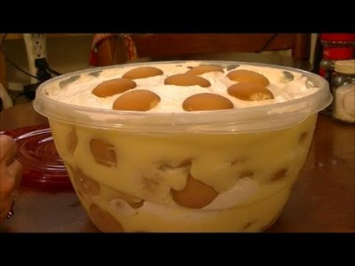 Recipe for Quick and Easy Banana Pudding - YouTube
