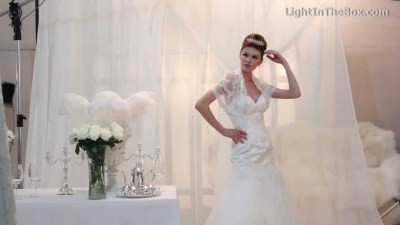 Lightinthebox White Wedding Dresses - YouTube