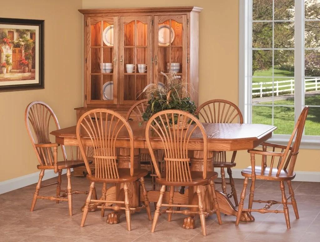 wooden kitchen chairs Shown in Oak w light cherry stain