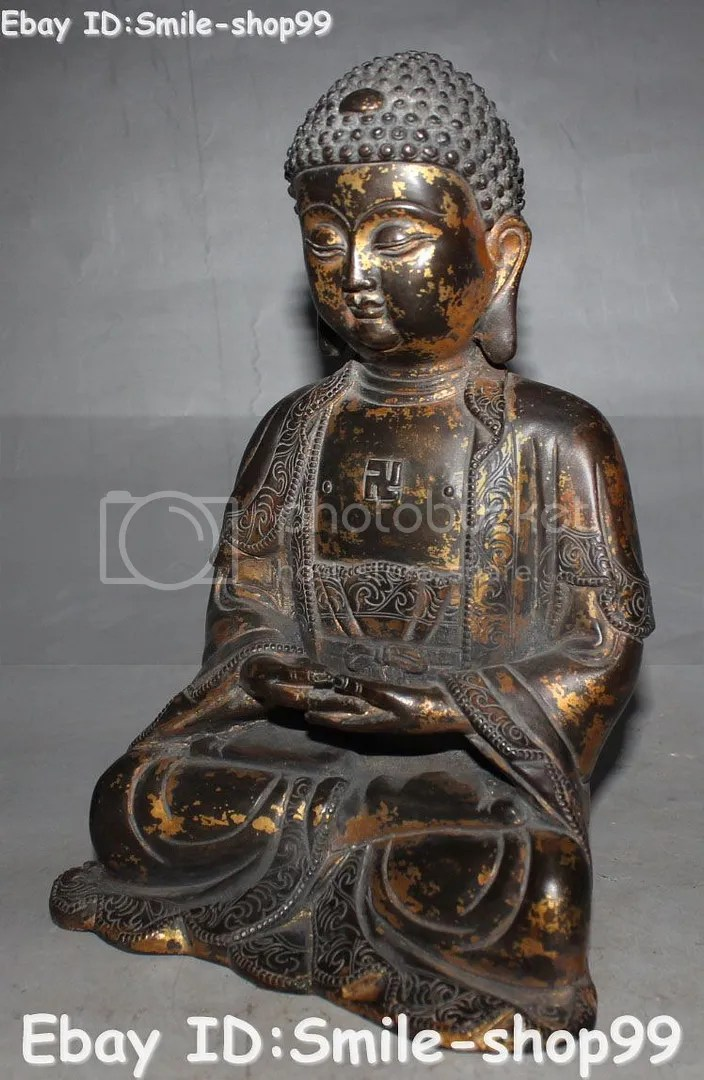 8  Purple Bronze Gild Tathagata Sakyamuni Shakyamuni Amitabha Buddha     When the individual auction is closed  please do request the total through  ebay  and I will send you the invoice including the actual shipping cost as  soon