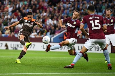 Brentford striker Neal Maupay accepts charge of violent conduct after stamp on Aston Villa's ...