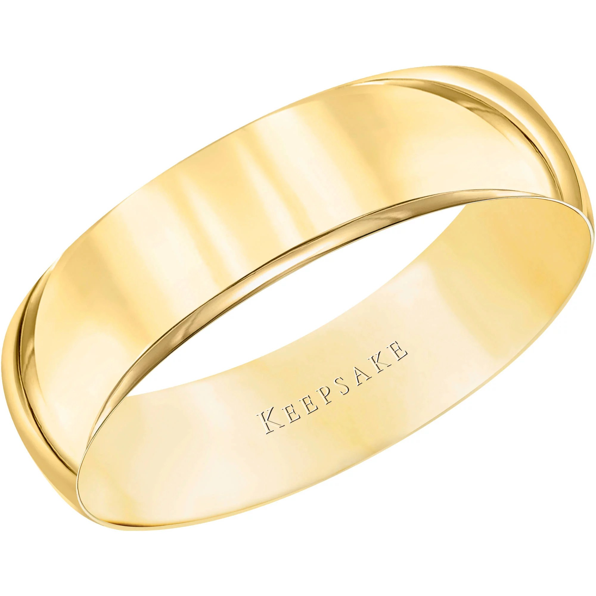 mens country wedding bands Keepsake 10kt Yellow Gold Wedding Band With High Polish Finish 5mm