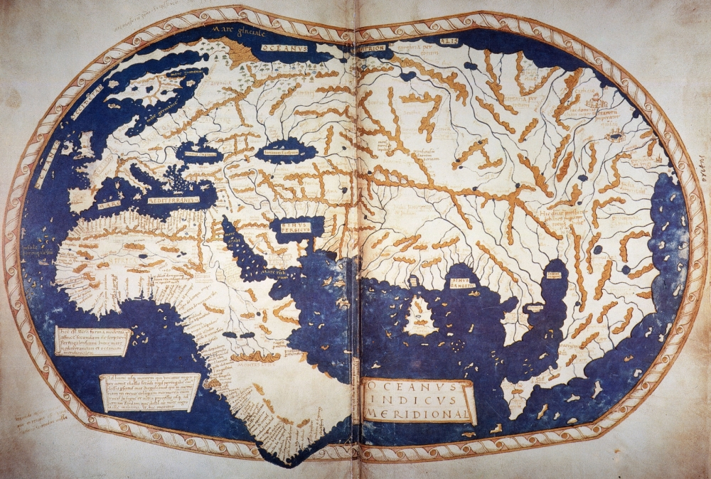 Martellus World Map 1489 Nworld Map C1489 Of Henricus Martellus     Martellus World Map 1489 Nworld Map C1489 Of Henricus Martellus Copies Of  Which Are Believed To