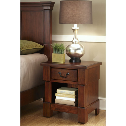 Home Styles The Aspen Collection Media Chest, Rustic Cherry/Black - Walmart.com