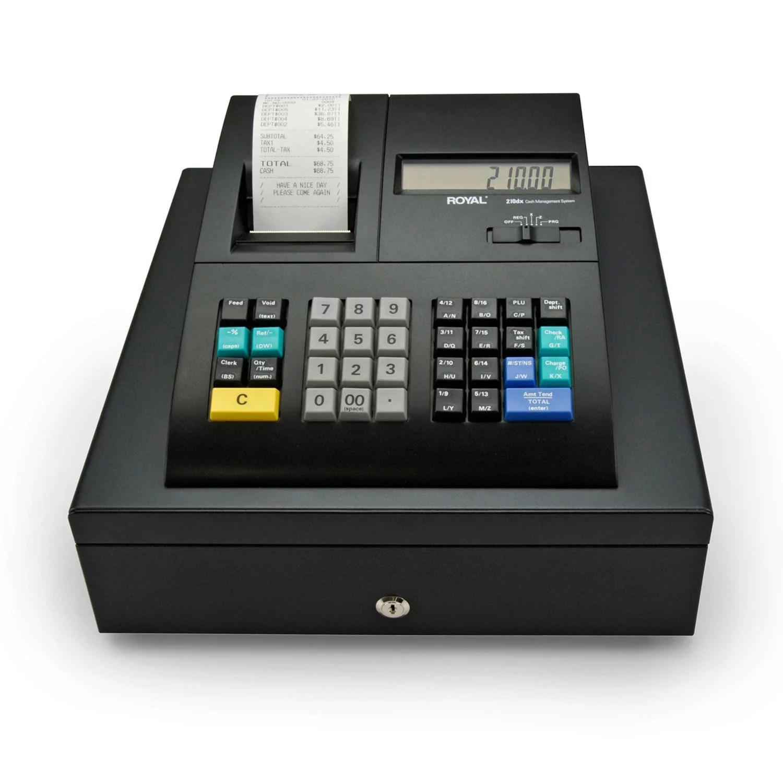 Refurbished Royal 210DX B1 Electronic Cash Register w/Dual LCD Displays 1500 PLUs/ID System ...
