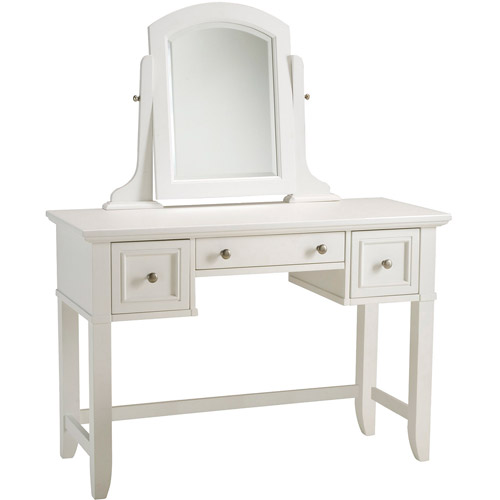 Home Styles Naples Vanity Table and Mirror, White ...