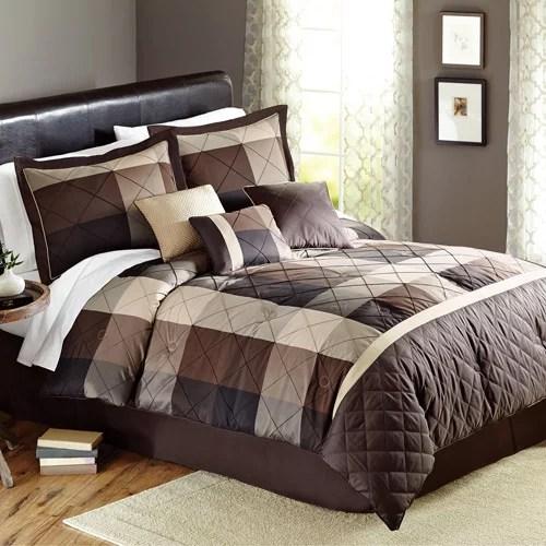 Better Homes and Gardens Elliot Plaid 7-Piece Bedding Comforter Set - Walmart.com