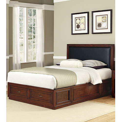 Home Styles Duet Platform King Panel Bed with Black ...