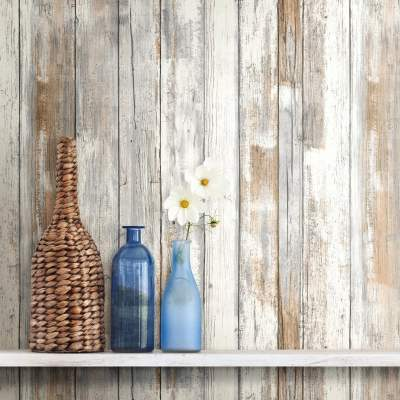 RoomMates Distressed Wood Peel and Stick Wall Décor Wallpaper - Walmart.com