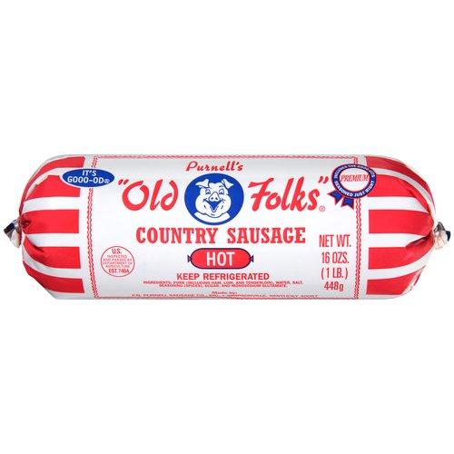 Purnell's Old Folks Hot Country Sausage 16 Oz Chub - Walmart.com
