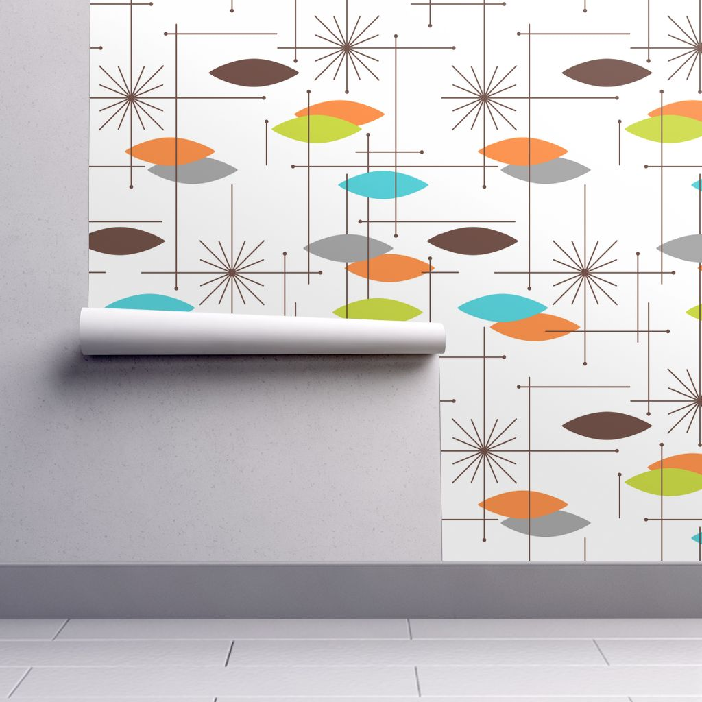 Peel-and-Stick Removable Wallpaper Mid Century Modern Mid Century Modern - Walmart.com