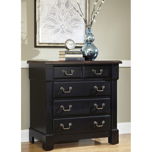 Home Styles The Aspen Collection Drawer Chest, Rustic Cherry/Black - Walmart.com