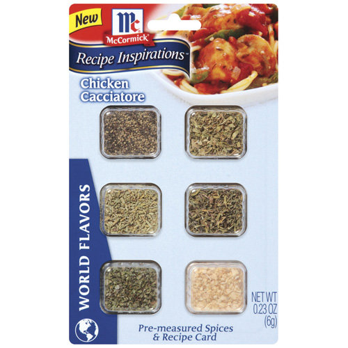 McCormick Recipe Inspirations Spices For Chicken Cacciatore, .23 oz - Walmart.com