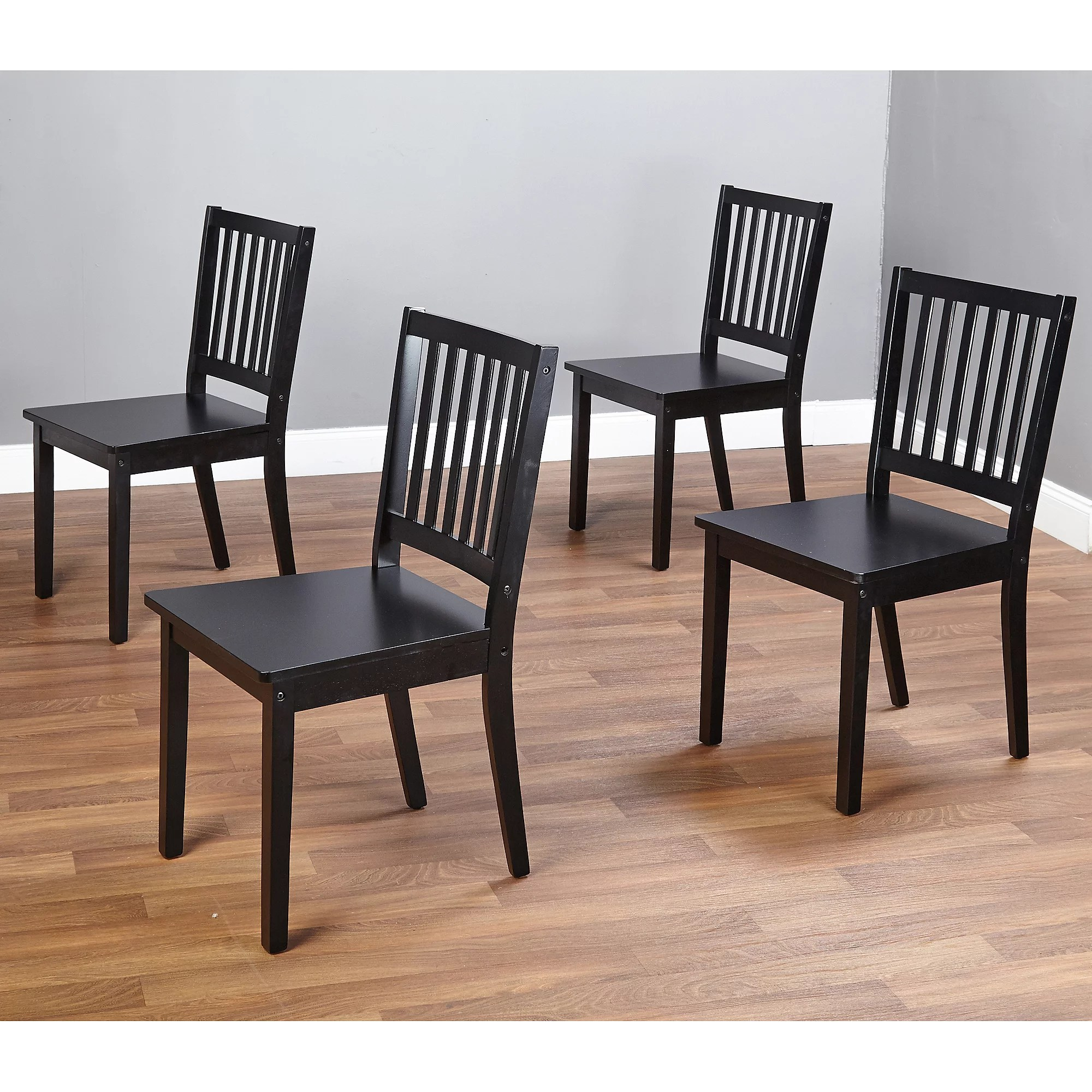 kitchen chairs walmart Shaker Dining Chairs Set of 4 Black