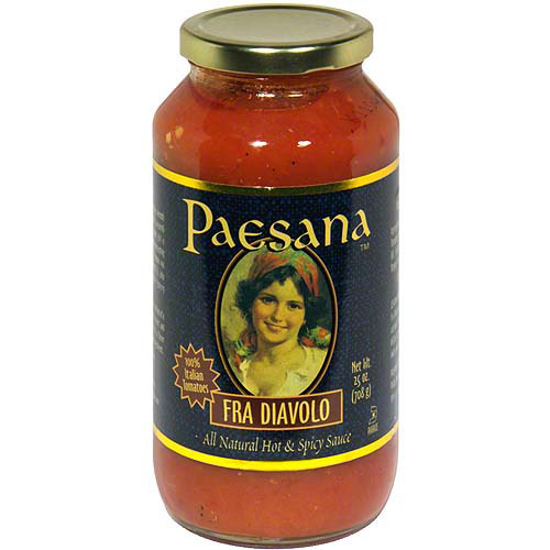 ***Discontinued by Kehe***Paesana Fra Diavolo All Natural Hot & Spicy Sauce 25 oz (Pack of 6 ...