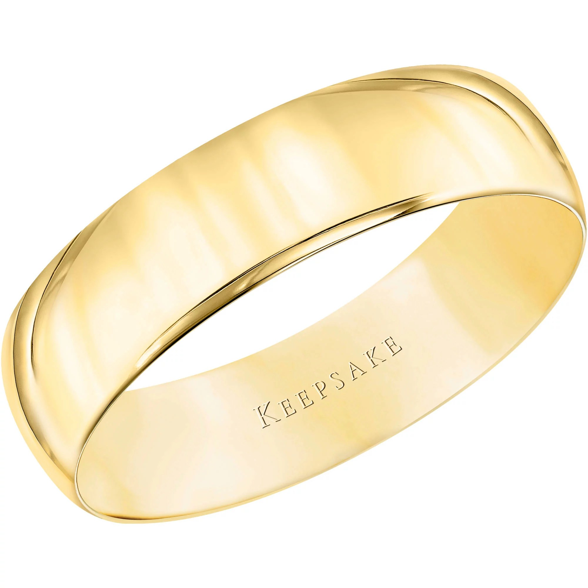 Zlbgieie mens country wedding bands Keepsake 10kt Yellow Gold Comfort Fit Wedding Band 5 5mm